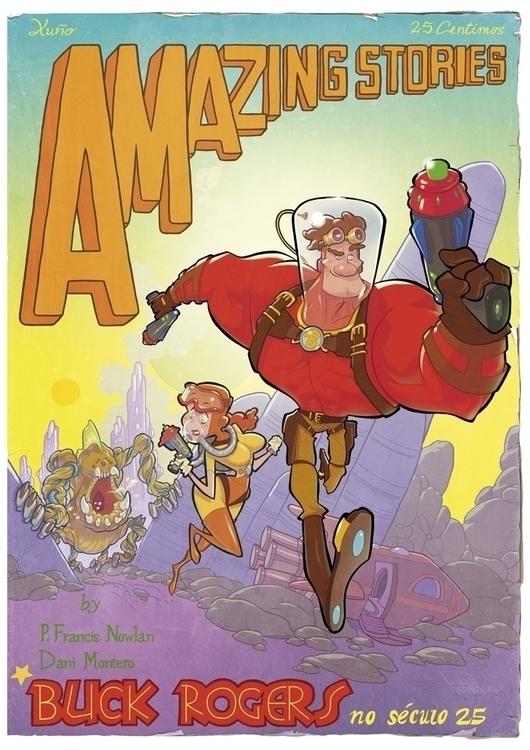 Buck Rogers - illustration, classic - danimontero | ello