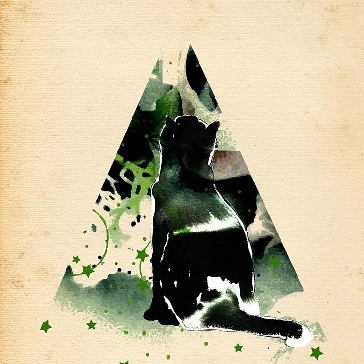 cat, nature, illustration, ink - randi-8271 | ello