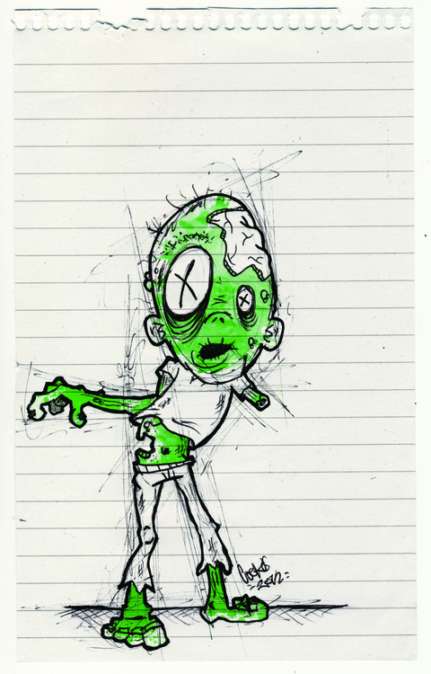 Notebook-Zombie - zombie, zombies - inkedsloth | ello