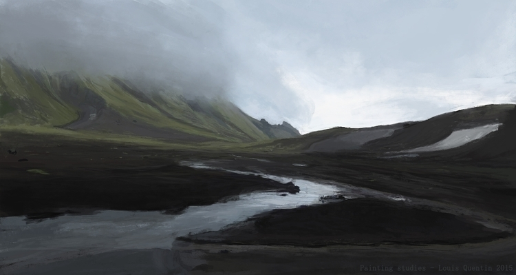1 hour painting - Iceland - iceland - ultrasqull | ello