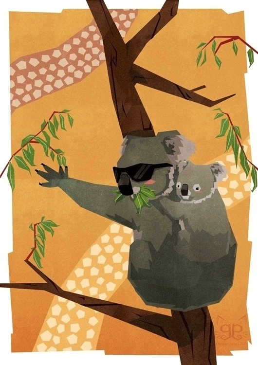 Koala - koala, animalalphabets, australia - gemmagould | ello