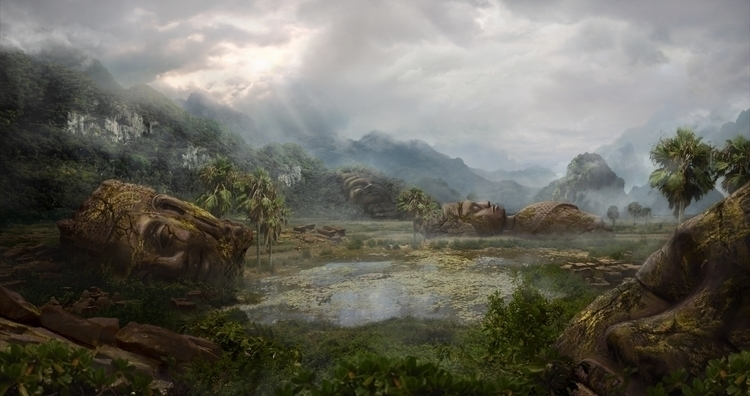 Ancient Ruins - landscape, mattepainting - lisaayla | ello