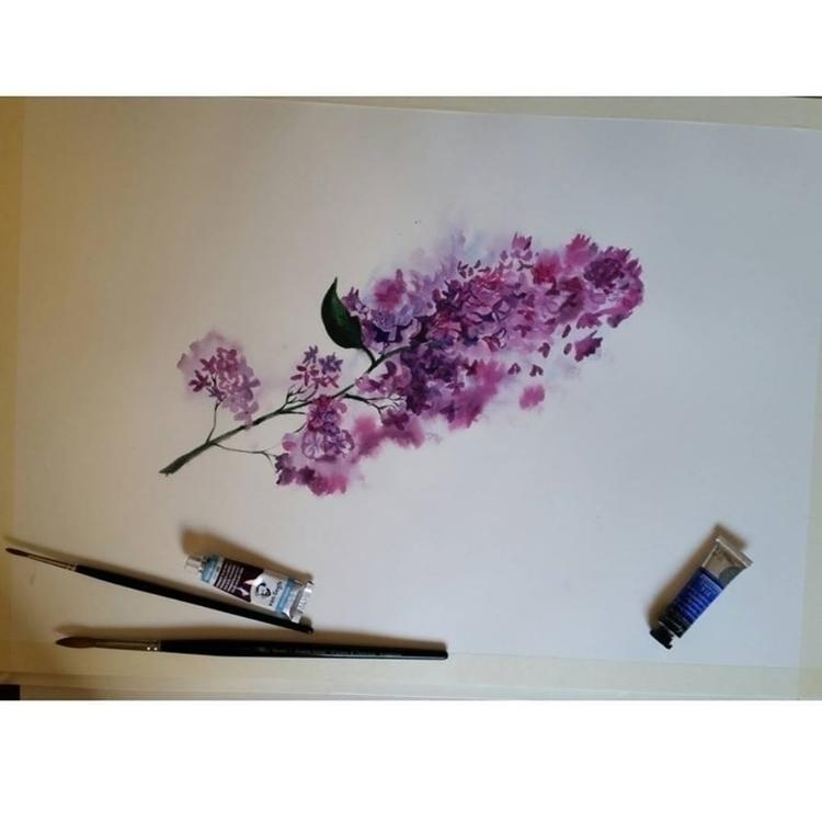 flowers, watercolor, painting - artolgash | ello