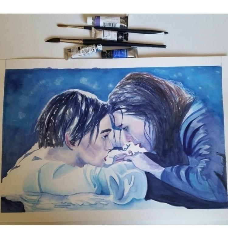 film, frame, painting, watercolor - artolgash | ello