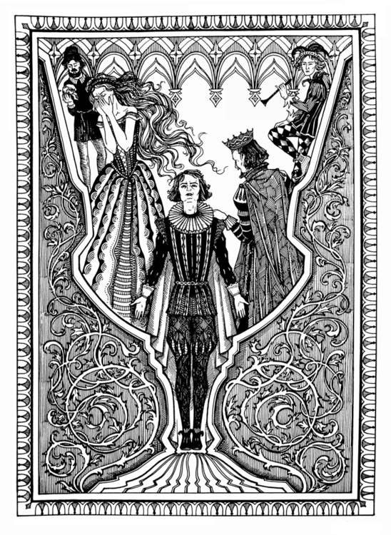 Hamlet - illustration, blackandwhite - odarkaluhihi | ello