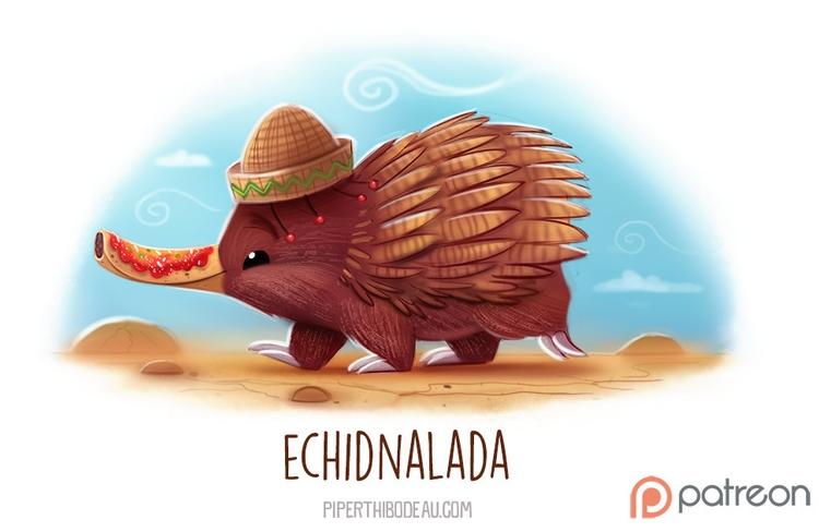 Daily Paint 1526. Echidnalada - piperthibodeau | ello
