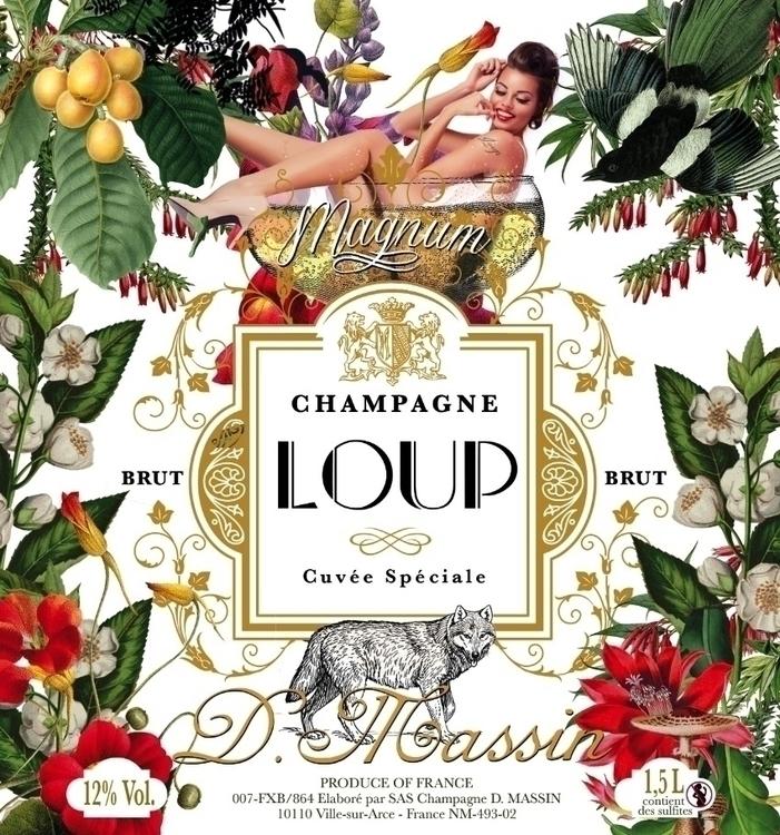 Loup Champagne Label - picturgency | ello