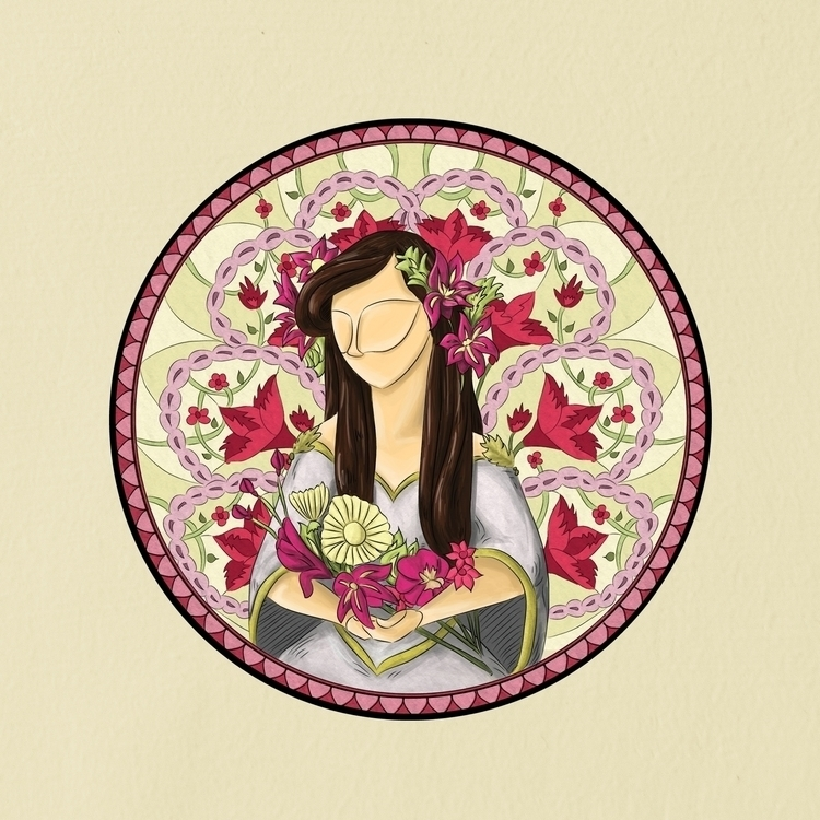 illustration, artnouvea, stainedglass - triciamabale | ello
