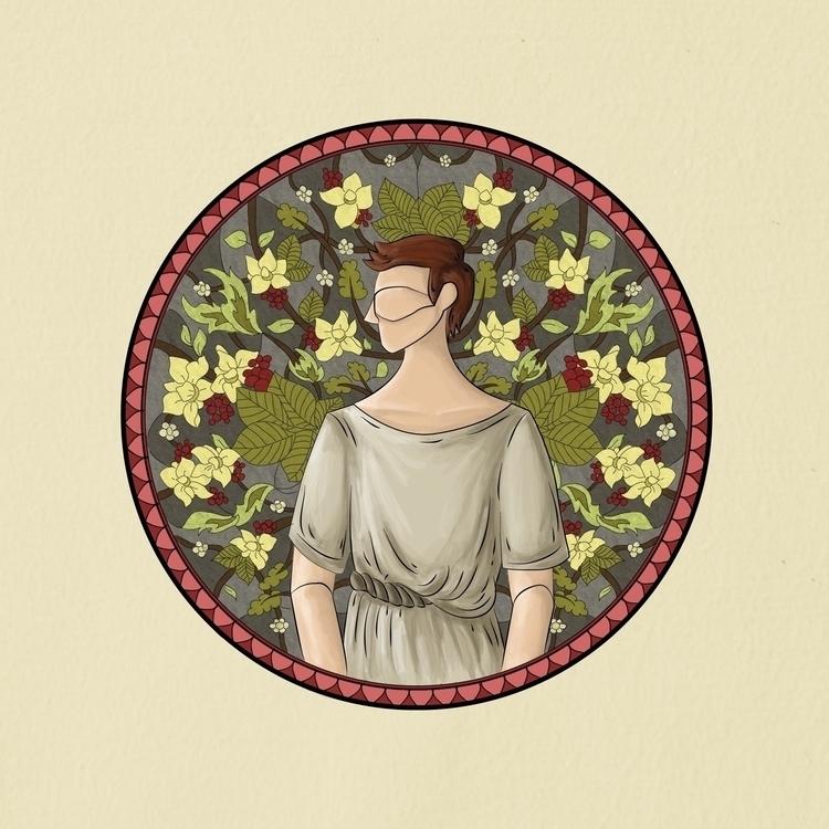 illustration, artnouveau, stainedglass - triciamabale | ello