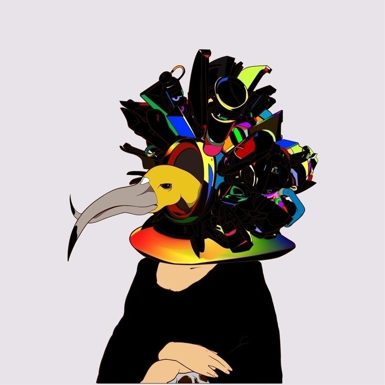 PRISM - monalisa, head, rainbow - kasiminami | ello