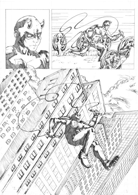 Daredevil Comic Sample Pg2 - illustration - feradami | ello