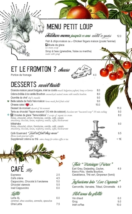 Restaurant Menu LOUP - graphicdesign - picturgency | ello