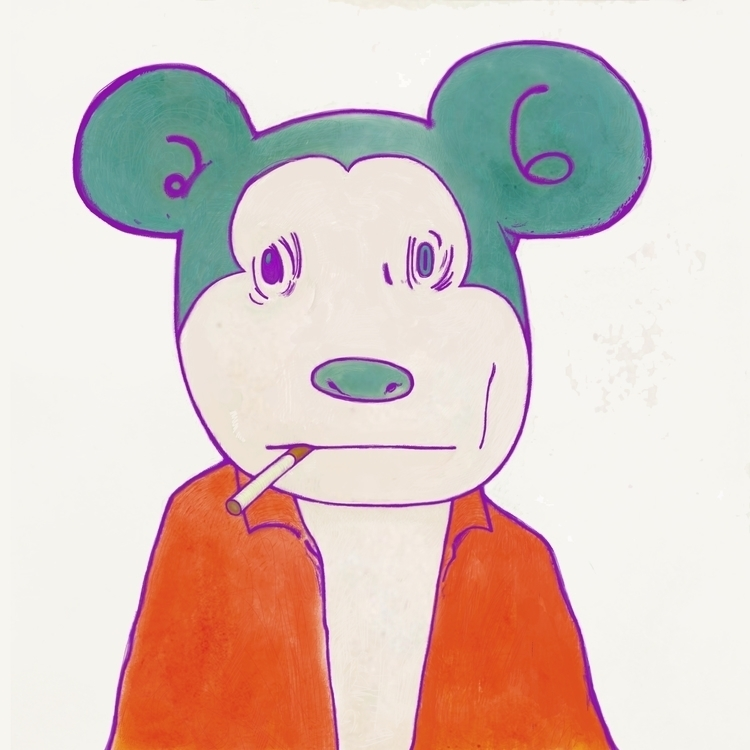 COMMON MAN - mickey, cigarette, man - kasiminami | ello