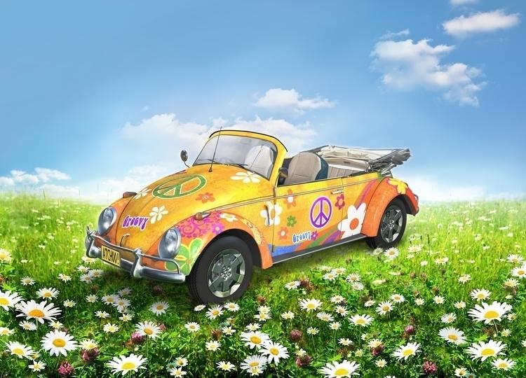 Retro Volksie   Summer 01 - 3D, Modelling - vantage-9372   ello