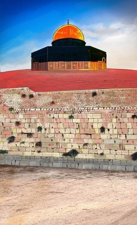 Dome rock mosque, Rofat El-shah - mahmoudswielam | ello