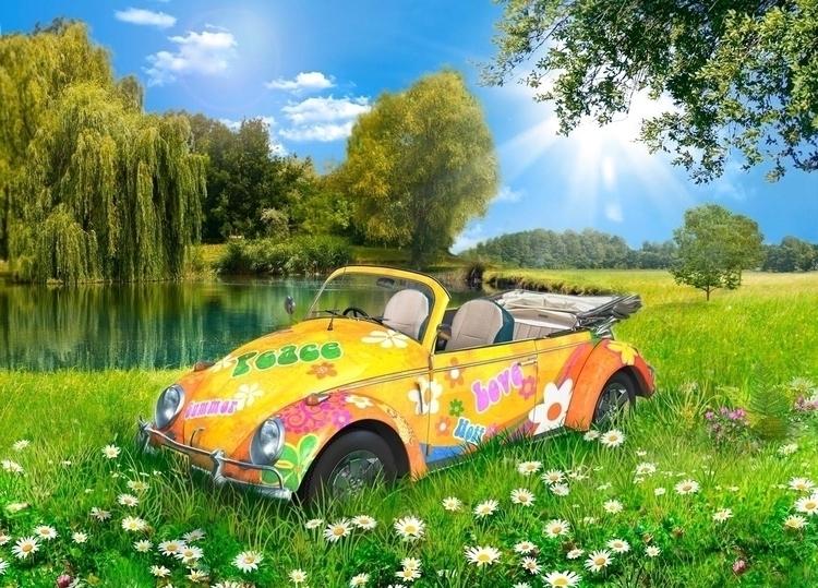 Retro Volksies | Summer 02 - 3D - vantage-9372 | ello