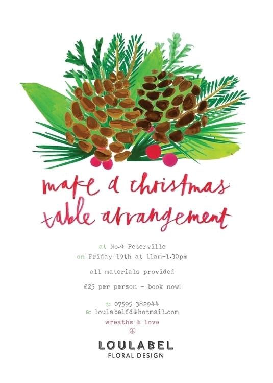 poster florist - typography, christmas - lisaprisk | ello