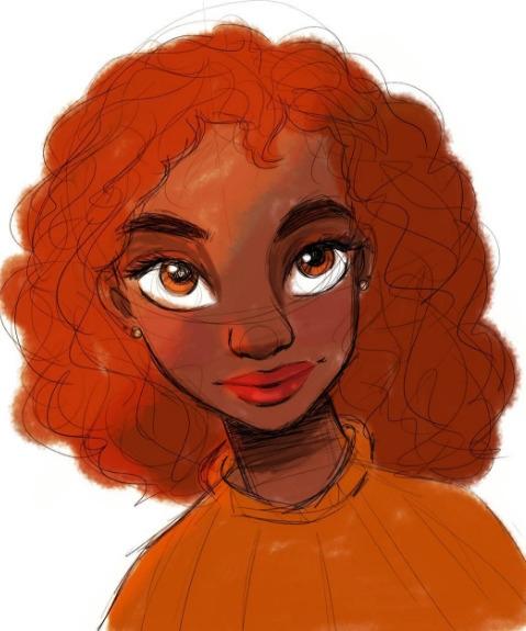 Redhead Beauty - design, drawing - feather827art | ello