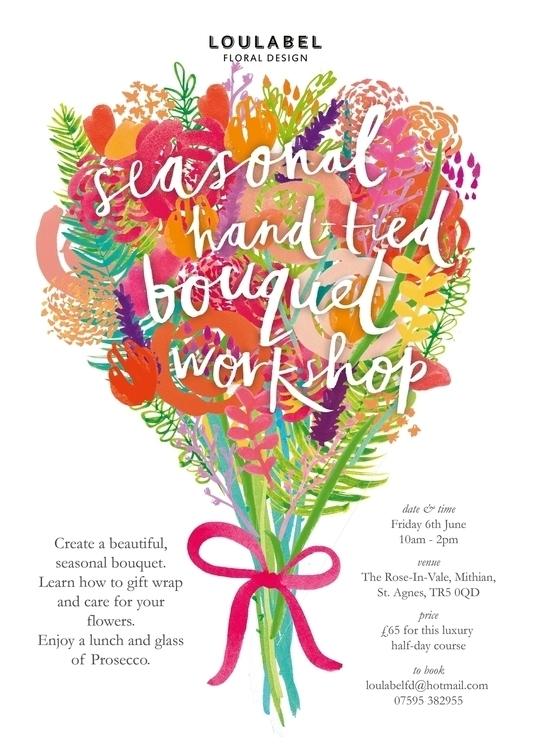 poster florist - typography, flowers - lisaprisk | ello
