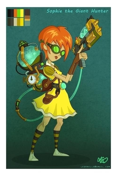 Steampunk Sophie - characterdesign - leo-4782 | ello