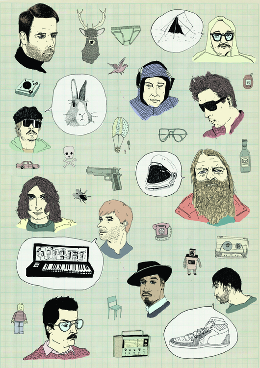 bar conversations - illustration - miekevdmerwe   ello