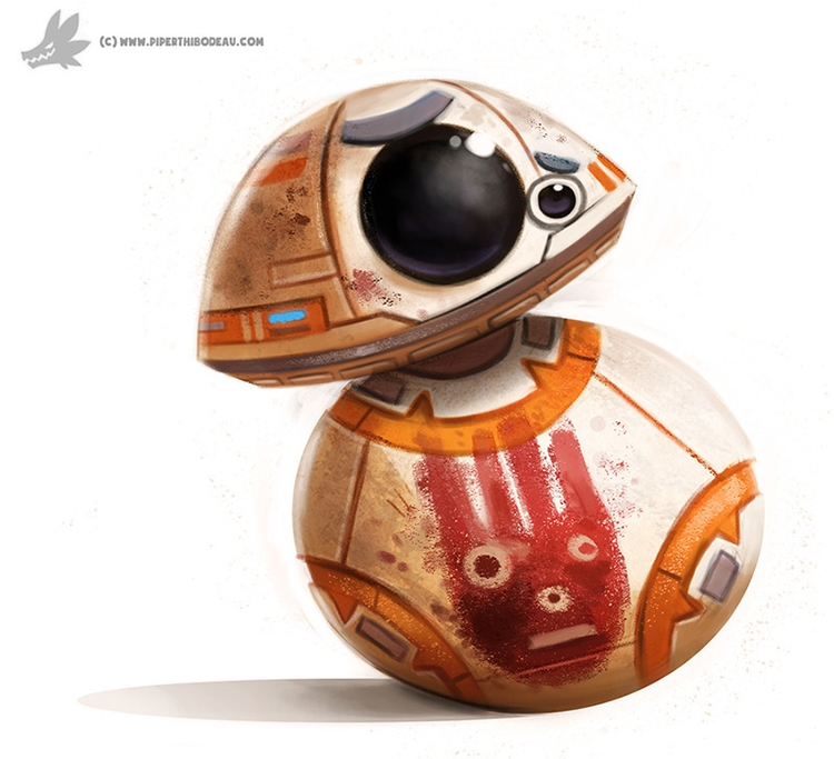 Daily Painting 904# BB-8 - piperthibodeau | ello