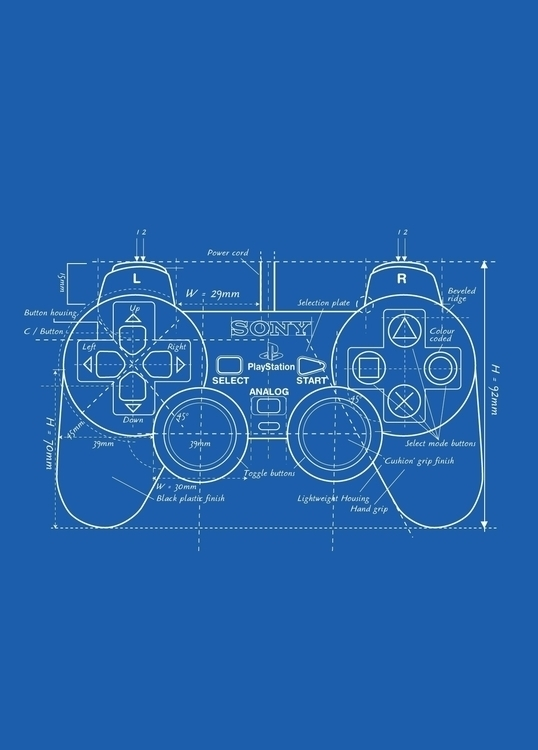 Playstation Blueprint - VectorArt - vantage-9372 | ello