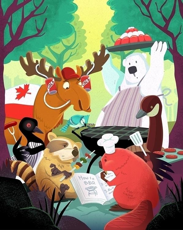 Canadian animals bbq - canada, forest - charlenechua | ello