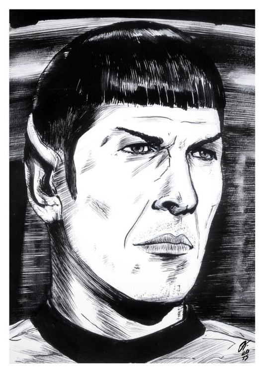 Spock (Traditional Ink - illustration - oscartriana | ello