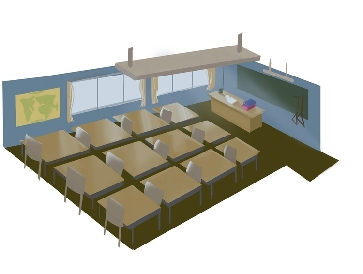 Classroom cross section - illustration - davidfurnal | ello