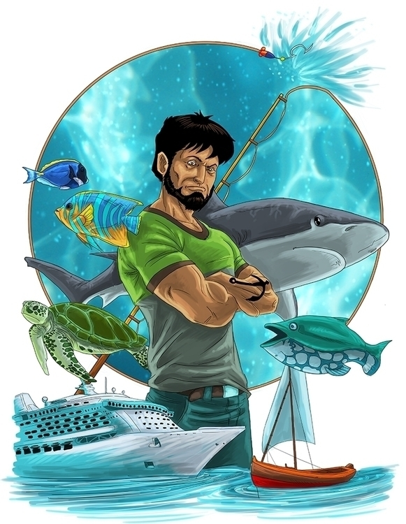 Fisherman - illustration, painting - daborien | ello