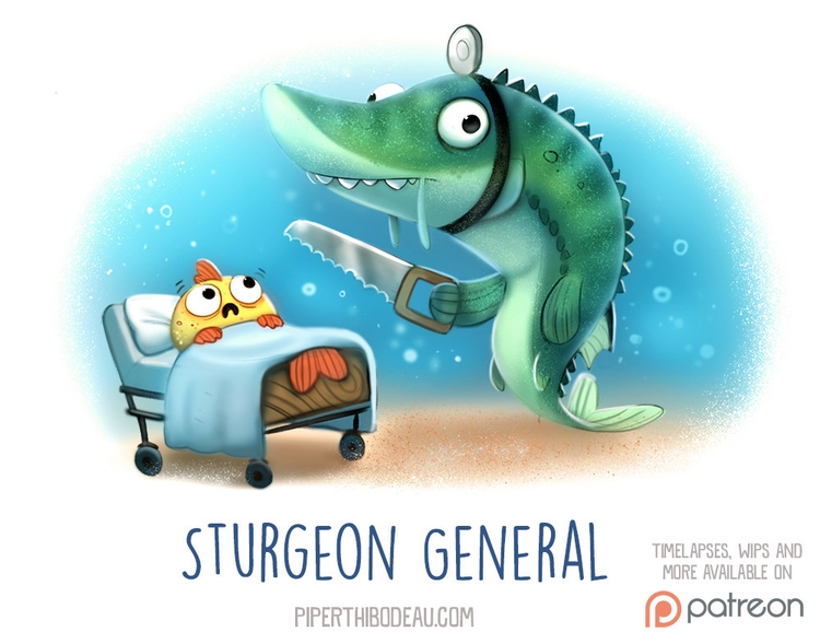 Daily Paint 1529. Sturgeon Gene - piperthibodeau | ello
