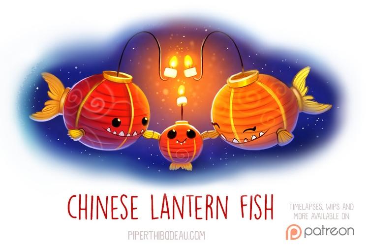Daily Paint 1530. Chinese Lante - piperthibodeau | ello