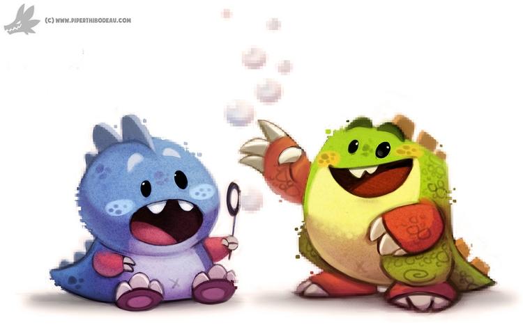 Daily Painting 907# Bubble - piperthibodeau | ello