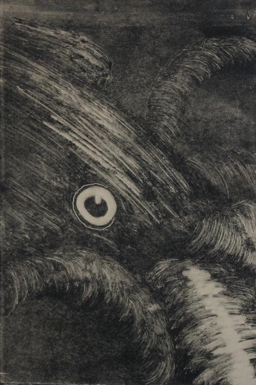 Squid, 2014. Monotype - printmaking - emilycyr | ello