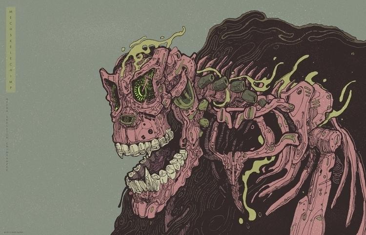 Mecha skeleton chimpanzee - illustration - xuanquyen | ello