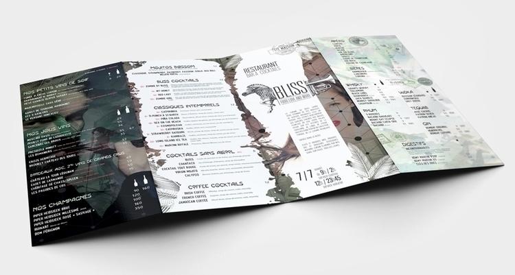 BLISS Menu restaurant  - menu, brochure - picturgency | ello
