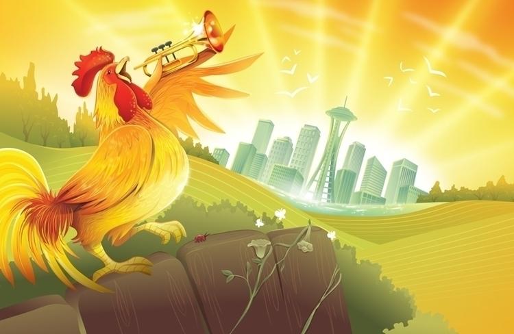 chicken trumpet. coffee packagi - charlenechua | ello