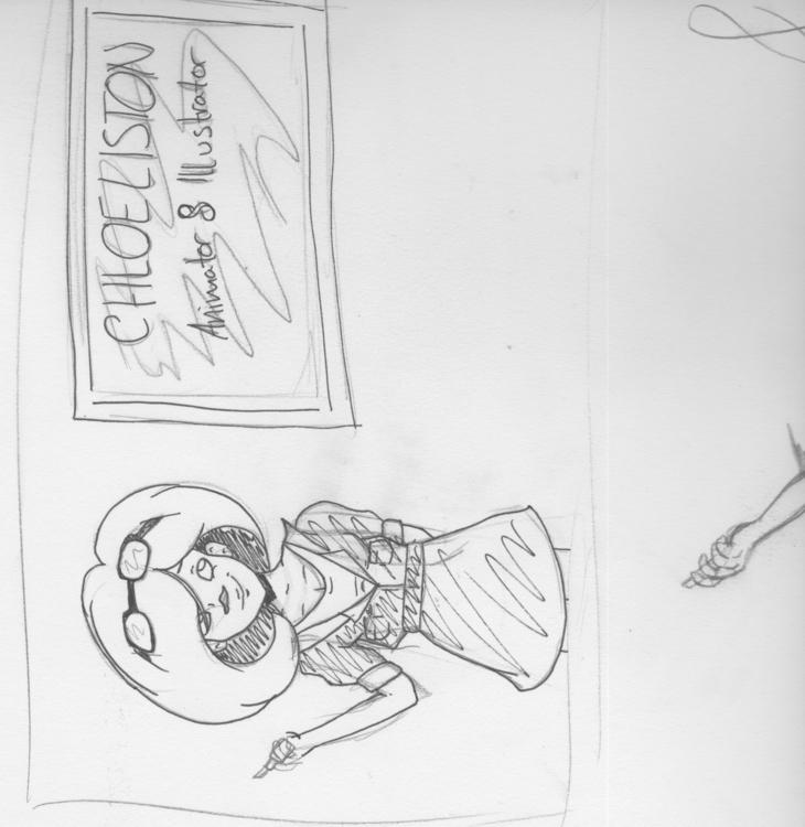 promo project sketch - selfpromotion - shortstuffcl   ello