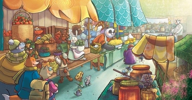 Al mercato market - illustration - francescanavoni   ello