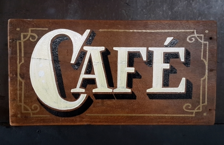 Coffee themed sign - coffee, signpainting - gibara | ello