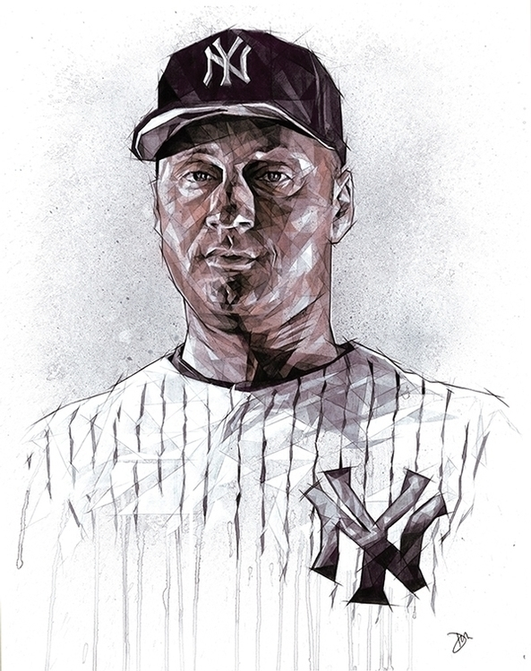 NY Yankees' Derek Jeter - portr - zregreb | ello