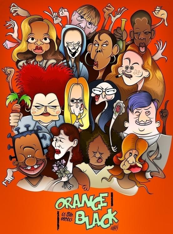 cartoon version Orange Black -  - eliran_bichman   ello