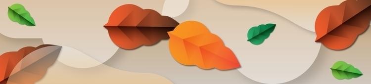 Leaves wind - leaves, autumn, illustration - valentinabolognini   ello