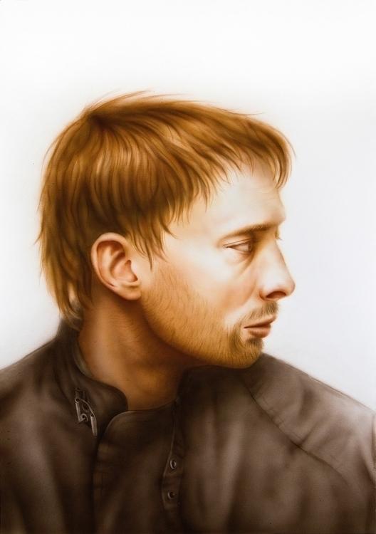Thom Yorke - traditionalart, aerography - dmytrivmax | ello