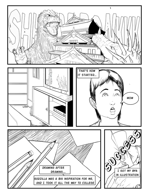 2 page introduction comic - illustration - erroseart | ello