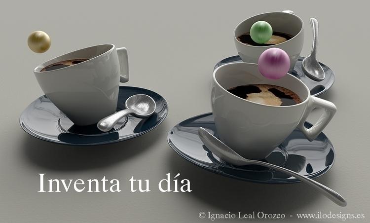 Creative cofee - 3d, rendering - ilodesigns | ello