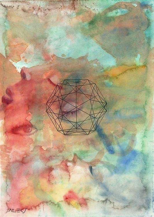 Nana - painting, watercolor, abstraction - alecs-1191   ello