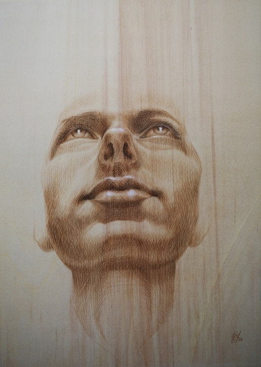 Brown charcoal wood - illustration - giuliafederici | ello
