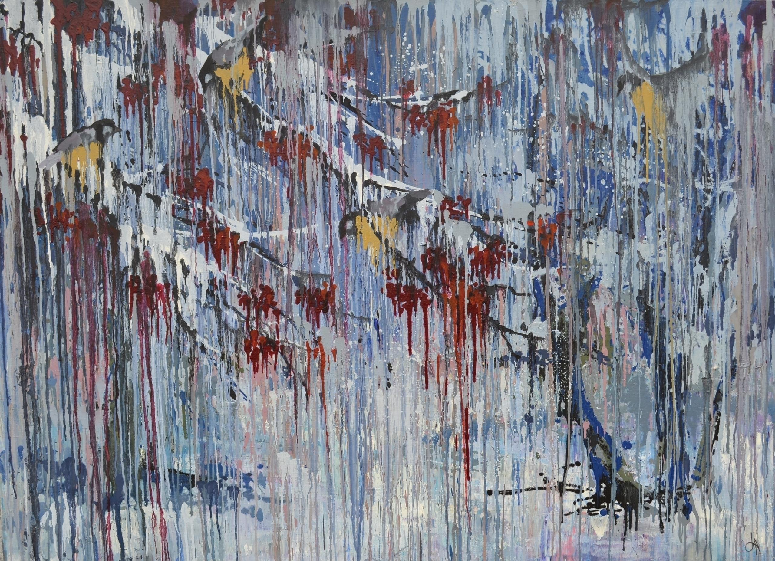Tomtits 130x180 Oil canvas. 201 - tanya_vasilenko | ello